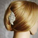 Vintage Style Silver Bridal Wedding Diamante Crystal Bride Hair Comb Headpiece