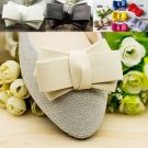 Fashion Black Off White Red Blue Syntheic Leather Bow Butterfly Shoe Clips