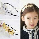 Little Girl Toddler Gold Star Hair Headband Accessories