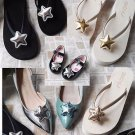 A Pair Gold Silver Blue Sparkling Beach Starfish Star Sandals Girl Shoe Clips