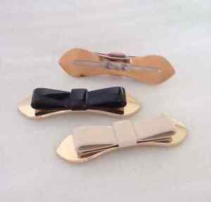 Fashion Artificial Leather Small Bow High Heel Lady Shoe Charms Pair