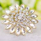 Sunflower Gold Tone Flower Floral Wedding Bridal Shoe Clips Charms Pair