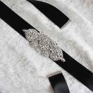 Bridal Wedding Rhinestone Crystal Dress Gown Ribbon Satin Sash Dress Belt