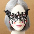 Black Butterfly Lace Masquerade Red Drops Eye Face Mask Costume Party Accessory