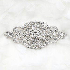 LOT OF 10 WEDDING BRIDAL RHINESTONE DRESS SASH BUCKLE VINTAGE RHOMBUS BROOCH PIN