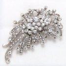 Vintage Style Rhinestone Crystal Wedding Bridal Brooch Pin