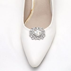 Victorian Style Rhinestone Crystal Wedding Bridal Shoe Clips Pair