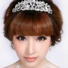 Vintage Style Big Teardrop Rhinestone Crystal Head Hair Piece Crown Tiara