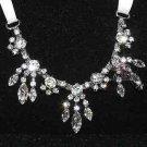 Wedding Bridal Marquise Dangle Drop Rhinestone Crystal Necklace Hair Chain