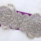 "6"" Crystal Bridal Applique Diamante Bead Motif Rhinestone Wedding Accessories"