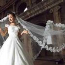 5 Meters Vintage Style Lace White/Ivory Wedding Bridal Cathedral Long Veil