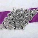 Clear Rhinestone Crystal Wedding Bridal Dress Applique Iron Sew On Sewing Craft