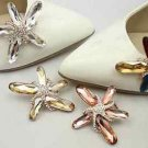 2pcs x Starfish Acrylic Rhinestone Crystal Beach Wedding Star Shoe Clips