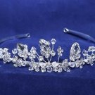 Vintage Style Wedding Bridal Rhinestone Crystal Princess Crown Headpiece