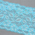 Vintage Bridal Wedding Greenish Blue Flower Lace Trim Veil Per 1 Yard
