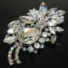 Bridal Wedding Handmade Headpiece Rhinestone Crystal Luxury Hair Alligator Clip