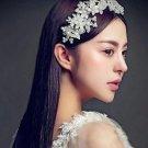 Wedding Bridal Poem Plastic Faux Pearl Flowers Hair Tiara Headpiece