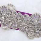 Gorgeous Wedding Applique Rhinestone Bridal Applique Beaded Motif Diamante Patch
