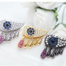 Fashion Eye Drop Cubic Zircon Zirconia Crystal Stud Earrings