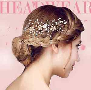 Gold Tone Vintage Style Wedding Crystal Hair Comb Headpiece Accessories
