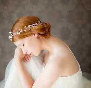 Gold Silver Leaf Rhinestone Crystal Wedding Bridal Hair Tiara Headpiece