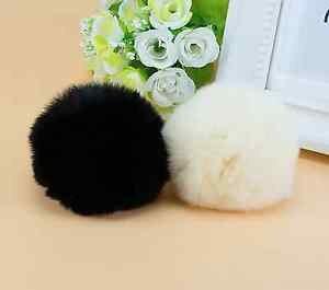 Fashion Winter Ladies Boots Pom Ball Faux Rabbit Fur Shoe Clips Pair