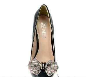 England English Style Plaid Check Grid Fashion Shoes Clips Charms Pairs