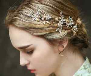 Vintage Style Wedding Crystal Gold Flower Leaf Hair Tiara Headpiece Accessories