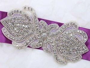 Wedding Dress Sash Craft Beaded Rhinestone Crystal Applique DIY