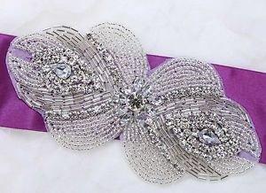 Wedding Bridal Dress Gown Sash Belt Craft Beaded Sew Iron Applique DIY Craft