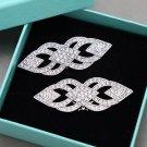 A Pair Vintage Style Ladies High Heel Rhinestone Crystal Shoe Clips Charms