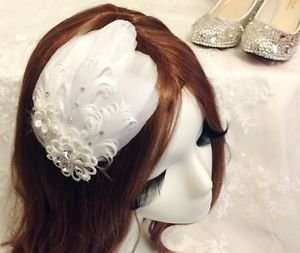 Feather Lace Hair Clip,Bridal Hair Clip,Wedding Hair Clip,Flower Clip,Alligator