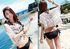 Sexy Fashion Ladies Womens Summer Ivory Lace Sleeve Casual Blouse Tops Outwear