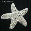 Christmas Party Prom Wedding Bridal Starfish Star Applique Hair Alligator Clip