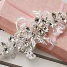 Flower Lace Bridal Wedding Ivory Pearl Rhinestone Crystal Headpiece Hair Tiara