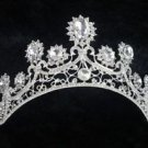 Wedding Bridal Vintage Clear Rhinestone Crystal Bride Crown Tiara Headpiece