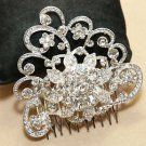 Bridal Wedding Vintage Style Rhinestone Crystal Hair Comb Headpiece Jewelry