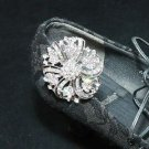 Bridal Wedding Aurora Borealis Crystal Rhinestone Shoe Clips Charms Buckle Pair
