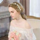 Wedding Ivory Pearl Rhinestone Crystal Rose Flower Tiara Headpiece Accessories