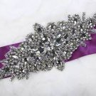 Wedding Dress Gown Party Sash Belt Rhinestone Crystal Applique Craft DIY