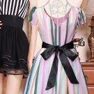 Double Layers Wedding Bridal Party Dress Gown Satin Ribbon Color Sash Belt 2M