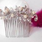 Ivory Tone Pearl Wedding Bridal Vintage Hair Comb Headpiece Accessories