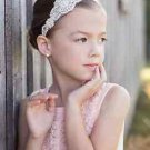 Flower Girl Silver Rhinestone Crystal Wedding Ivory Pearl Applique Headband