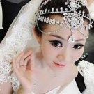 Wedding Rhinestone Hair Tiara Dangle Tikka Vintage Princess Crown Headpiece
