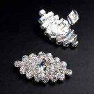 Wedding Crystal Boots Shoe Buckle Rhinestone Shoe Boots Clips Pair
