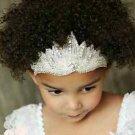 Wedding Bridal Baby Flower Girl Rhinestone Crystal Applique Headpiece Headband