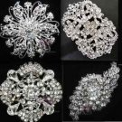 4 Mix Vintage Style Rhinestone Crystal Wedding Brooch Pin Jewelry