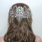 Handmade Vintage Style Dangle Drop Rhinestone Crystal Hair Comb Headpiece