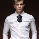 Men Groom Father Wedding Party Pre Tied Bowtie Boutonniere Bow Tie Necktie