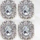 Lot Of 4 Oval Rhinestone Crystal Wedding Bridal Dress Sash Brooch Pin Jewelry